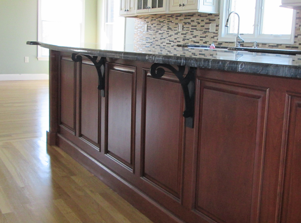 how to build support for granite countertop