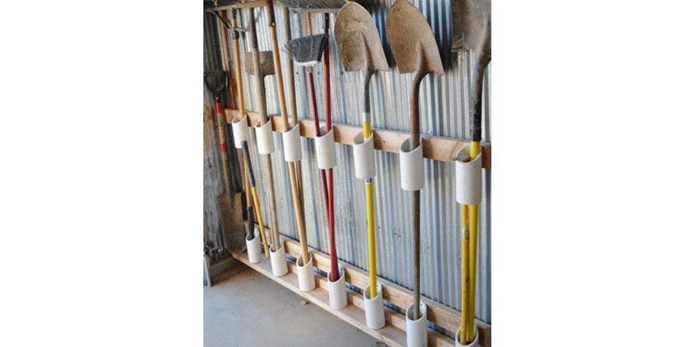 PVC used in storage.