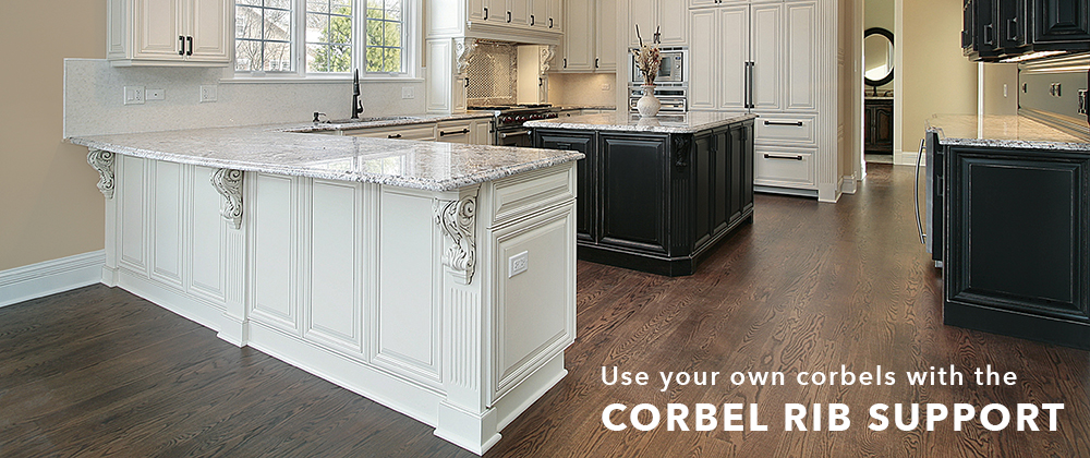 Use your own Corbels with the Corbel Rib Support