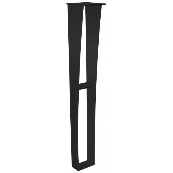 Anteris Countertop Support Leg - 6x5x34.50 - Black