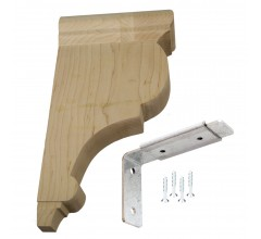 Wood Corbel Traditional Bar Bracket