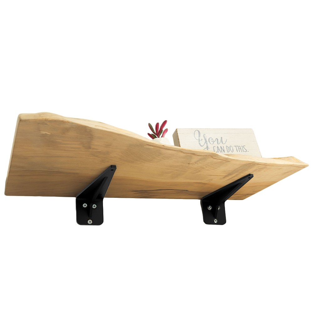 Maple Live Edge Wall Shelf