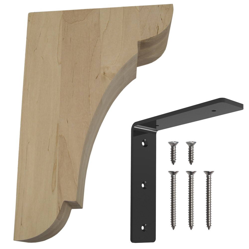 Wood Corbel Bar Bracket