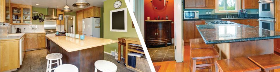 Images of Kitchens with Corner Countertop Overhangs