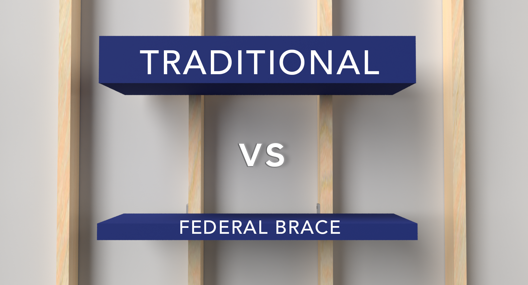 Traditional Floating Shelf vs. Federal Brace Solutions