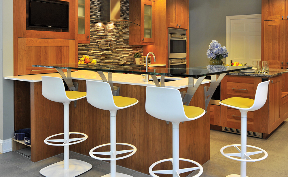 Countertop Height Overhang : The Floating Bar Countertop application is a decorative style where ...