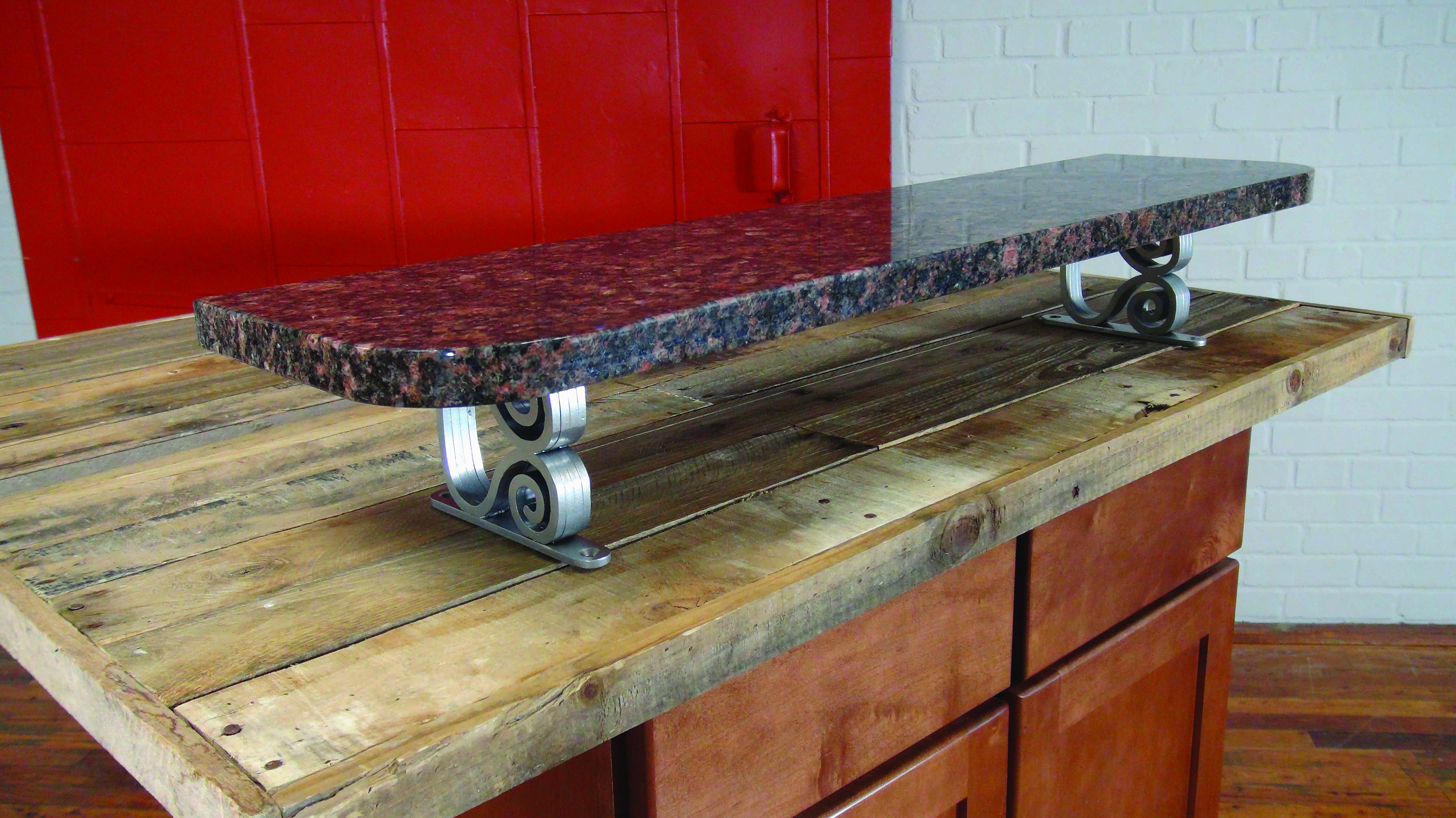 Danube Swirl Elevated Counter Top Post Supports