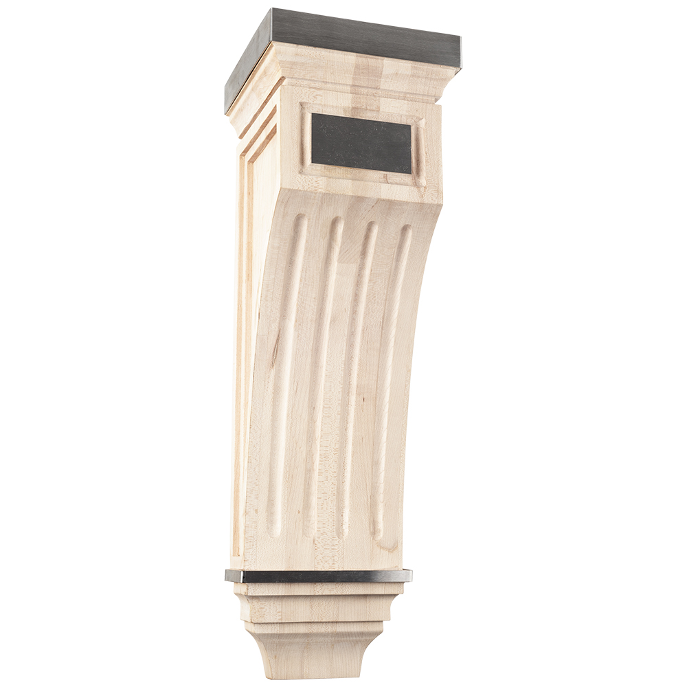 Mission Signature Wood Corbel with Stainless Steel Accents