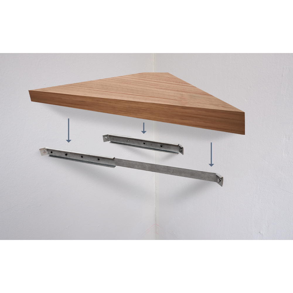 Corner Floating Desk Bracket System