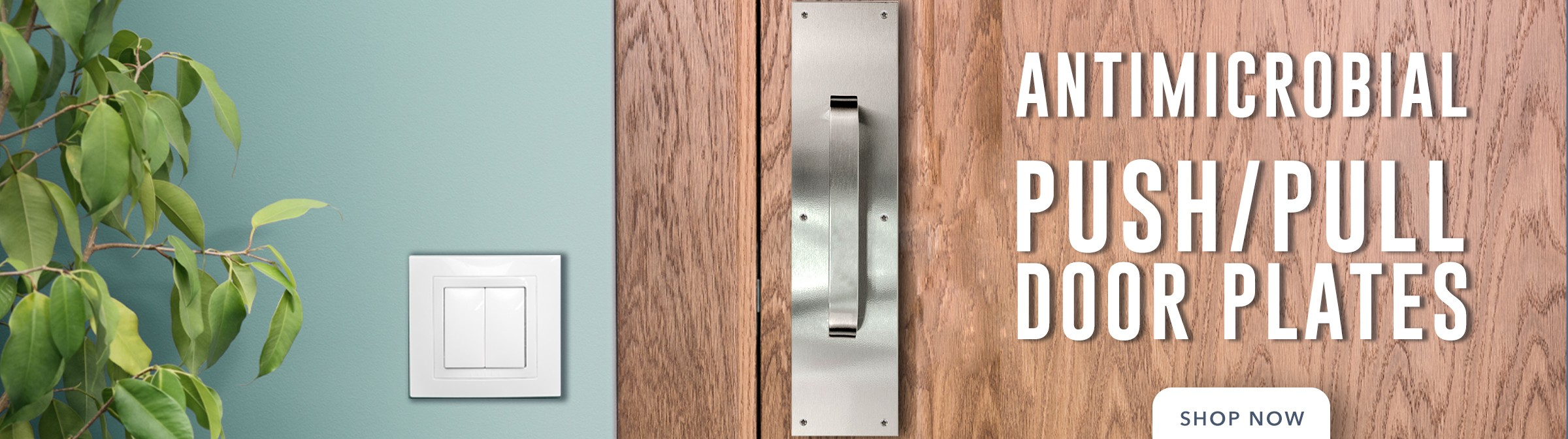 Antimicrobial Push/Pull Plates