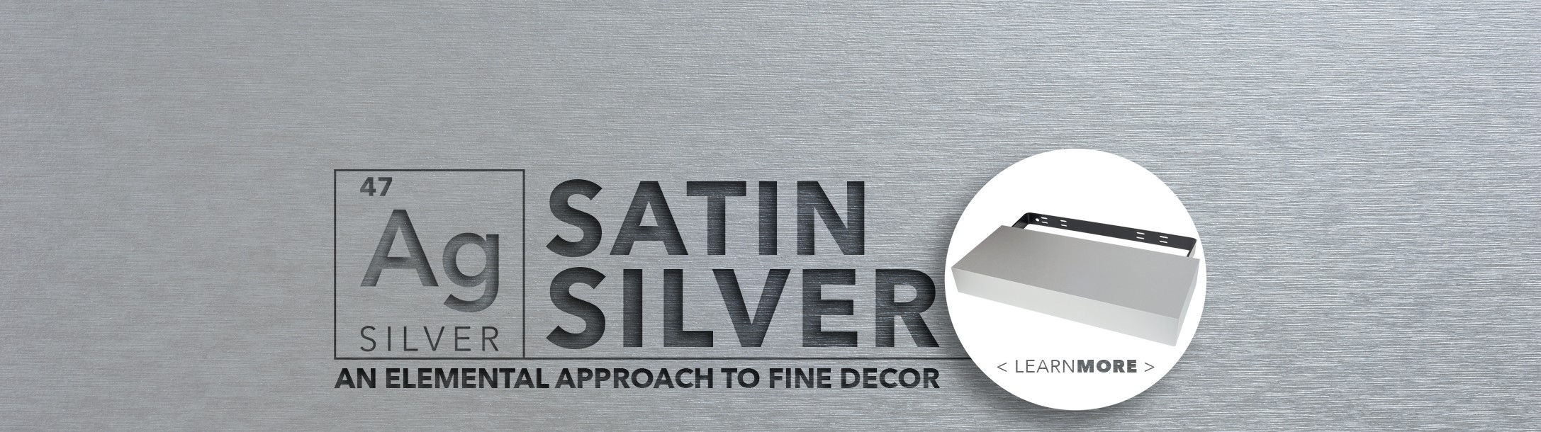 Satin Silver Floating Shelf